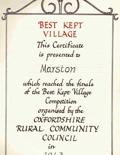 Best Kept Village 1963