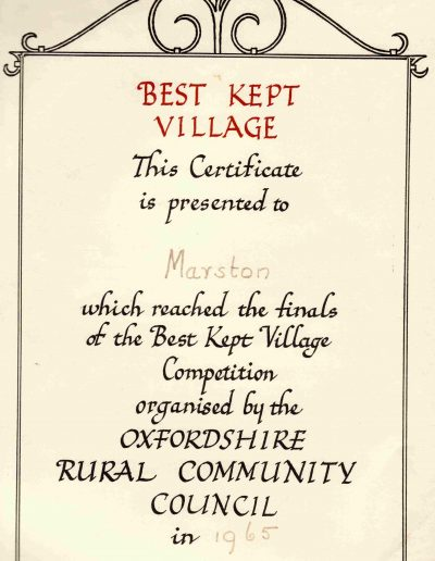 Best Kept Village 1965