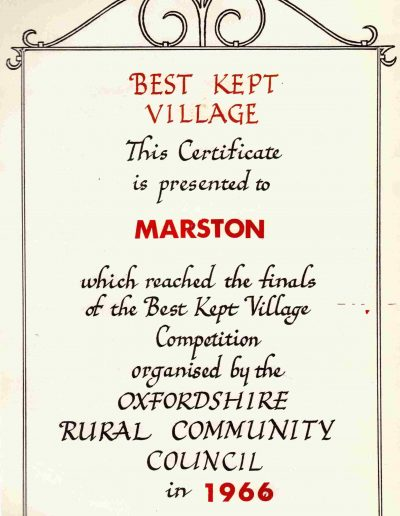 Best Kept Village 1966