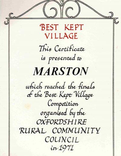 Best Kept Village 1971