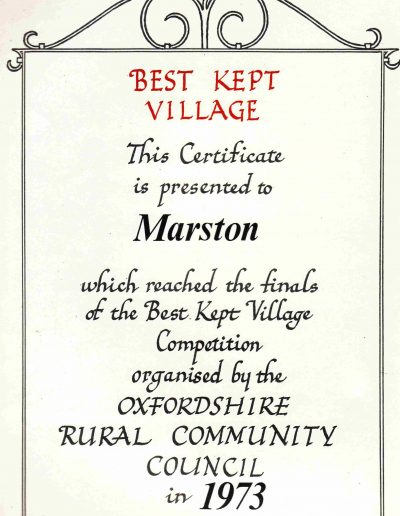 Best Kept Village 1973