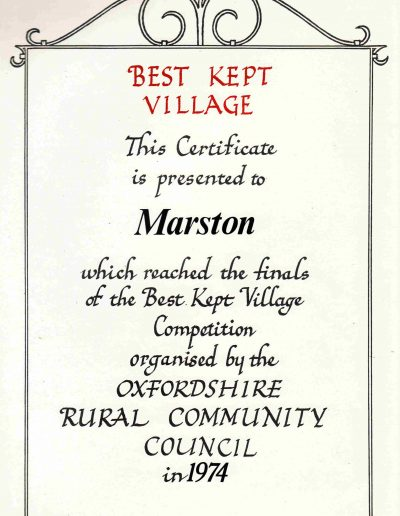 Best Kept Village 1974