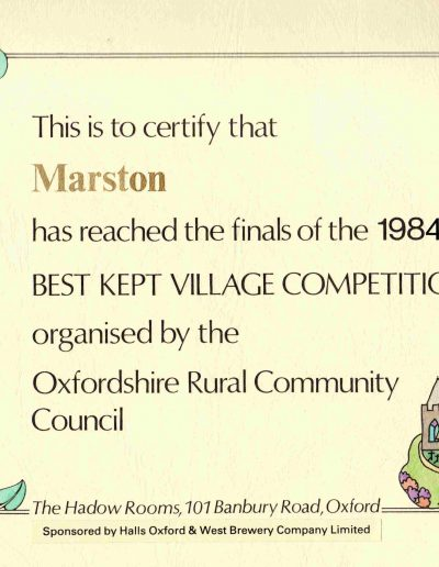 Best Kept Village 1984