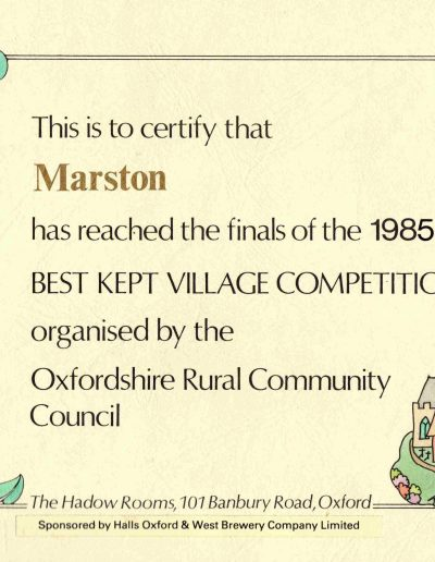 Best Kept Village 1985