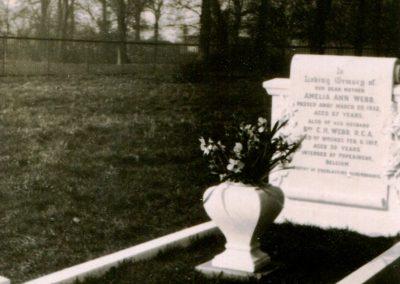 Amelia Webb grave Old Marston Cemetery 1933