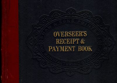 Special Expenses Overseer's Receipt & Payment Book cover